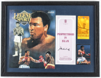 Muhammad Ali Signed 13x17 Custom Framed Display (JSA ALOA) at PristineAuction.com