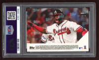 Ronald Acuna Jr. 2018 Topps Now Moment of the Week #MOW27 (PSA 10) at PristineAuction.com