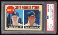Aaron Judge / Tyler Austin 2017 Topps Heritage #214A RC (PSA 10) at PristineAuction.com