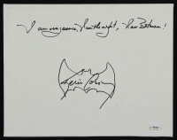 "Kevin Conroy Signed ""Batman"" 11x14 Canvas Inscribed ""I Am Vengeance, I Am the Night, I Am Batman!"" with Hand-Drawn Sketch (PSA Hologram) at PristineAuction.com"