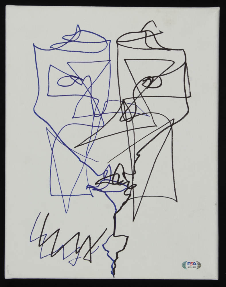 "Ezra Miller Signed ""The Flash"" 11x14 Hand-Drawn Canvas Sketch (PSA Hologram) at PristineAuction.com"
