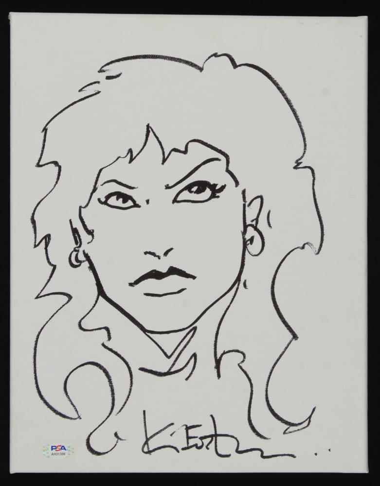 "Kevin Eastman Signed ""Teenage Mutant Ninja Turtles"" 11x14 Hand-Drawn Canvas Sketch (PSA Hologram) at PristineAuction.com"