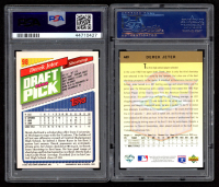 Lot of (2) Derek Jeter Cards with 1993 Topps #98 RC (PSA 7) & 1993 Upper Deck #449 RC (PSA 8) at PristineAuction.com