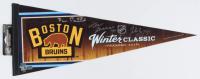 Patrice Bergeron, Zdeno Chara & David Pastrnak Signed 2016 Boston Bruins Winter Classic Pennant (Bergeron, Chara & Pastrnak COA) at PristineAuction.com
