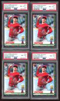 Lot of (4) PSA Graded Shohei Ohtani 2019 Topps Walmart Holiday #HW16 Baseball Cards at PristineAuction.com