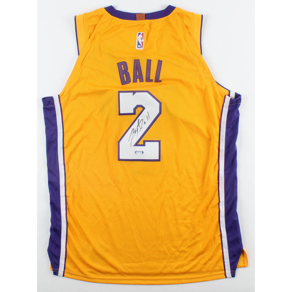 Lonzo Ball Signed Lakers Jersey (PSA Hologram)   Pristine Auction