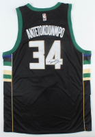 Giannis Antetokounmpo Signed Bucks Jersey (PSA Hologram) at PristineAuction.com