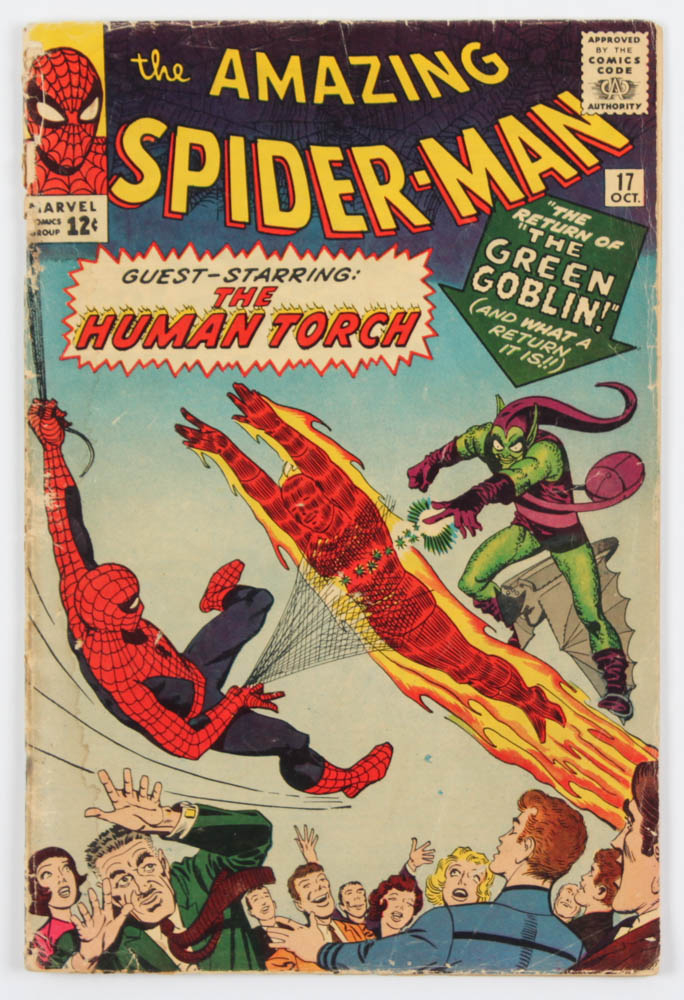 "1964 ""The Amazing Spiderman"" Issue #17 Marvel Comic Book at PristineAuction.com"