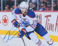 Leon Draisaitl Signed Oilers 8x10 Photo (PSA COA) at PristineAuction.com