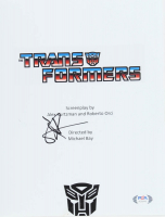 "Shia LaBeouf Signed ""Transformers"" 8x10 Script Cover Photo (PSA Hologram) at PristineAuction.com"