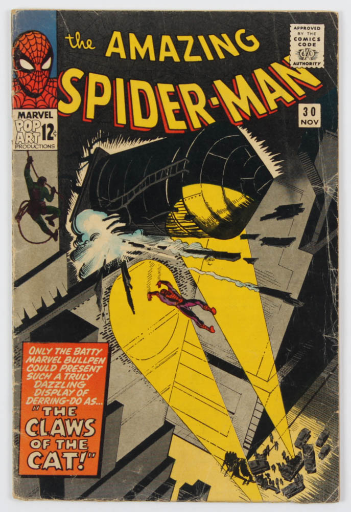 """1965 """"The Amazing Spiderman"""" Issue #30 Marvel Comic Book at PristineAuction.com"""