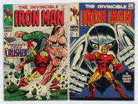 "Lot of (2) 1968 ""The Invincible Iron Man"" Comic Books with #8 & #6 at PristineAuction.com"