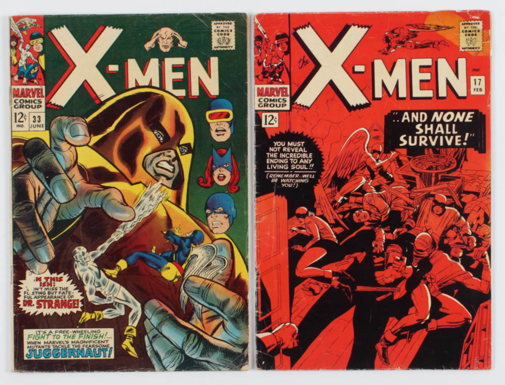 """Lot of (2) """"The Amazing Spiderman"""" Comic Books with 1966 #17 & 1967 #33 at PristineAuction.com"""