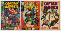 "Lot of (3) ""Captain America"" Comic Books with 1969 #112, 1968 #104 & 1969 #118 at PristineAuction.com"