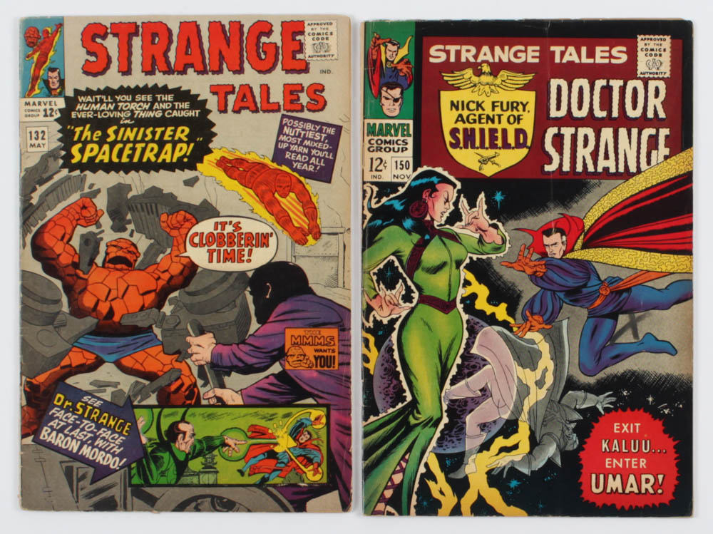 "Lot of (2) ""Strange Tales"" Comic Books with 1965 #132 & 1966 #150 at PristineAuction.com"