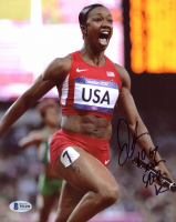 "Carmelita Jeter Signed Team USA 8x10 Photo Inscribed ""10.64 100m"" & ""40.82 WR"" (Beckett COA) at PristineAuction.com"