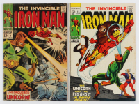"Lot of (2) ""The Invincible Iron Man"" Comic Books with 1969 #15 & 1968 #4 at PristineAuction.com"