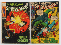 "Lot of (2) ""The Amazing Spiderman"" Comic Books with 1971 #93 & 1969 #72 at PristineAuction.com"