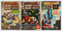 "Lot of (3) ""Tales of Suspense: Iron Man and Captain America"" Comic Books with 1965 #69, 1967 #96 & 1966 #76 at PristineAuction.com"
