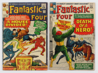 """Lot of (2) """"Fantastic Four"""" Comic Books with 1965 #34 & 1964 #32 at PristineAuction.com"""
