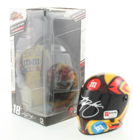 Kyle Busch Signed Winner's Circle NASCAR M&M's Racing Mini-Helmet (Pristine Authentic COA) at PristineAuction.com