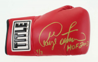 "George Foreman Signed Title Boxing Glove Inscribed ""HOF 2003"" (JSA COA) at PristineAuction.com"