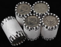 Lot of (5) Kennedy Half Dollars (20) Coin Rolls at PristineAuction.com