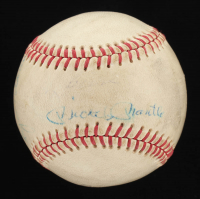 """Yankees Hall of Famers & Greats"" Ted Williams All Time Award Baseball Signed by (4) with Mickey Mantle, Yogi Berra, Roger Maris, & Johnny Blanchard (JSA LOA) at PristineAuction.com"