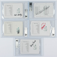 Lot of (5) BGS Encapselated Signed Augusta National Golf Club Scorecards with Bob Goalby, Bernhard Langer, Fuzzy Zoeller, Craig Staedler, & Doug Ford at PristineAuction.com
