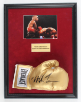 """Iron"" Mike Tyson Signed 17x22 Custom Framed Boxing Glove Display (PSA COA) at PristineAuction.com"