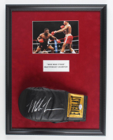 """""""Iron"""" Mike Tyson Signed 17x22 Custom Framed Boxing Glove Display (PSA COA) at PristineAuction.com"""