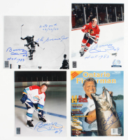 "Lot of (4) Bobby Hull Signed 8x10 Photos Inscribed ""The Golden Jet"", ""HOF 1983"" & ""2nd 50th 03/02/66"" (Hull Hologram) at PristineAuction.com"