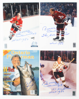 "Lot of (4) Bobby Hull Signed 8x10 Photos Inscribed ""HOF 1983"", ""The Golden Jet"" & ""12x NHL All Star"" (Hull Hologram) at PristineAuction.com"