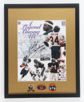 "Walter Payton Signed Bears 12x15 Custom Framed Photo Display Inscribed ""Sweetness"" & ""16,726"" & (3) Pins (PSA LOA) at PristineAuction.com"