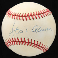 Hank Aaron Signed ONL Baseball with Display Case (JSA ALOA) at PristineAuction.com