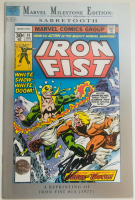 "Stan Lee Signed 1992 ""Iron Fist: Marvel Milestone Edition"" Issue #14 Marvel Comic Book (Lee COA) at PristineAuction.com"