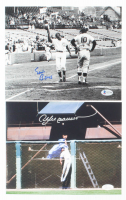 Lot of (2) Signed Cubs 8x10 Photos with Ernie Banks & Andre Dawson (JSA COA & Beckett COA) at PristineAuction.com