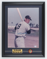Ted Williams Signed Red Sox 15x19 Custom Framed Photo Display With MVP Pin (PSA LOA) at PristineAuction.com