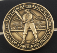 Babe Ruth Yankees 15x19 Custom Framed Photo Display with Bronze Hall Of Fame Coin at PristineAuction.com