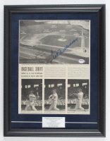 Ted Williams Signed Red Sox 15x19 Custom Framed Newspaper Display With Career Stats (PSA LOA) at PristineAuction.com