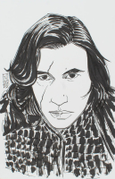 """Tom Hodges - Kylo Ren - """"Star Wars"""" - Signed ORIGINAL 5.5"""" x 8.5"""" Drawing on Paper (1/1) at PristineAuction.com"""