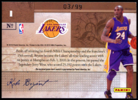 Kobe Bryant 2009-10 Playoff National Treasures Biography Materials #1 at PristineAuction.com