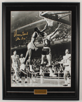 "Jerry West Signed Lakers 19.5x24.5 Custom Framed Photo Display Inscribed ""The Logo"" (PSA COA) at PristineAuction.com"