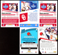 Lot of (5) Baker Mayfield Cards with (2) 2018 Score #351 RC, 2018 Donruss #303 RR RC, 2019 Rookies and Stars #15, 2018 Score NFL Draft #17 at PristineAuction.com