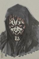 """Tom Hodges - Darth Maul - """"Star Wars"""" - Signed ORIGINAL 5.5"""" x 8.5"""" Drawing on Paper (1/1) at PristineAuction.com"""