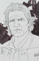 """Tom Hodges - Han Solo - """"Star Wars"""" - Signed ORIGINAL 5.5"""" x 8.5"""" Drawing on Paper (1/1) at PristineAuction.com"""