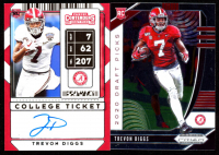 Lot of (2) Trevon Diggs Rookie Cards with 2020 Panini Contenders Draft Picks #167 Autograph RC & 2020 Panini Prizm Draft Picks #163 RC at PristineAuction.com