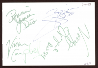 Dio et Al 4x5.5 Cut Signed By (5) with Ronnie James Dio, Vivian Campbell, Vinny Apprice, & Jimmy Bain (JSA LOA) at PristineAuction.com