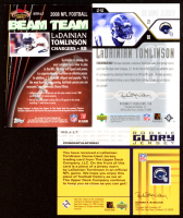 Lot of (3) LaDainian Tomlinson Memorabilia Cards with 2008 Stadium Club Beam Team Jerseys #BTRLT, 2004 Upper Deck Game Jerseys #LTGJ & 2002 UD Piece of History Rookie Glory Jerseys #RGJLT at PristineAuction.com