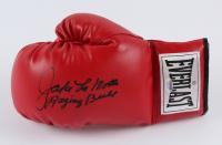 "Jake LaMotta Signed Everlast Boxing Glove Inscribed ""Raging Bull"" (PSA COA) at PristineAuction.com"